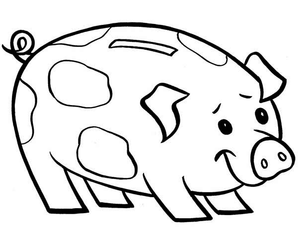 Piggy bank coloring page sketch coloring page for Piggy bank coloring page