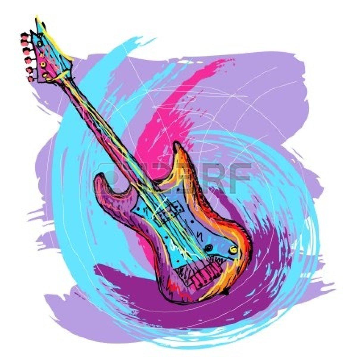 Как рисовать гитару крутую