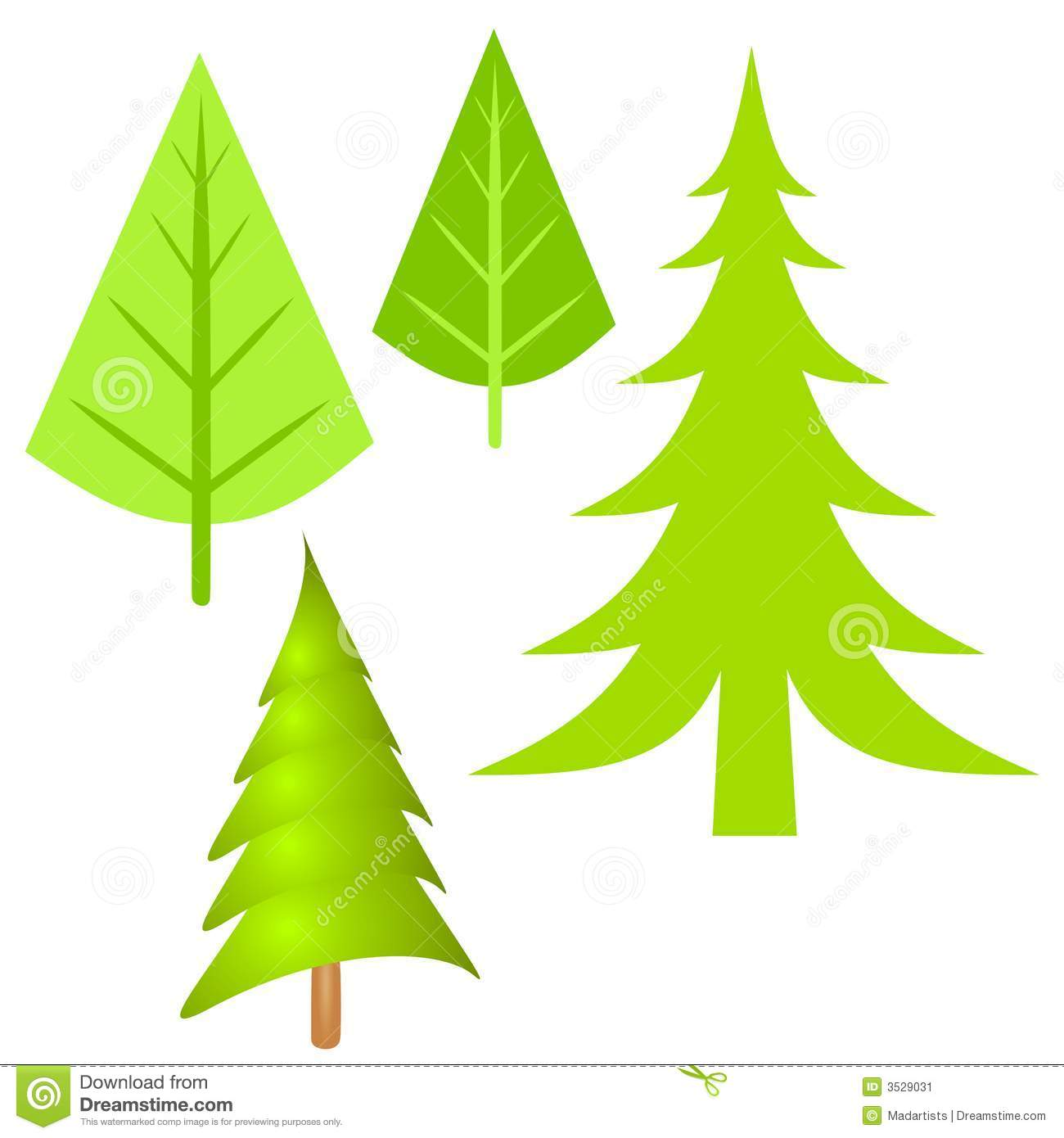 Simple Pine Tree Clipa...