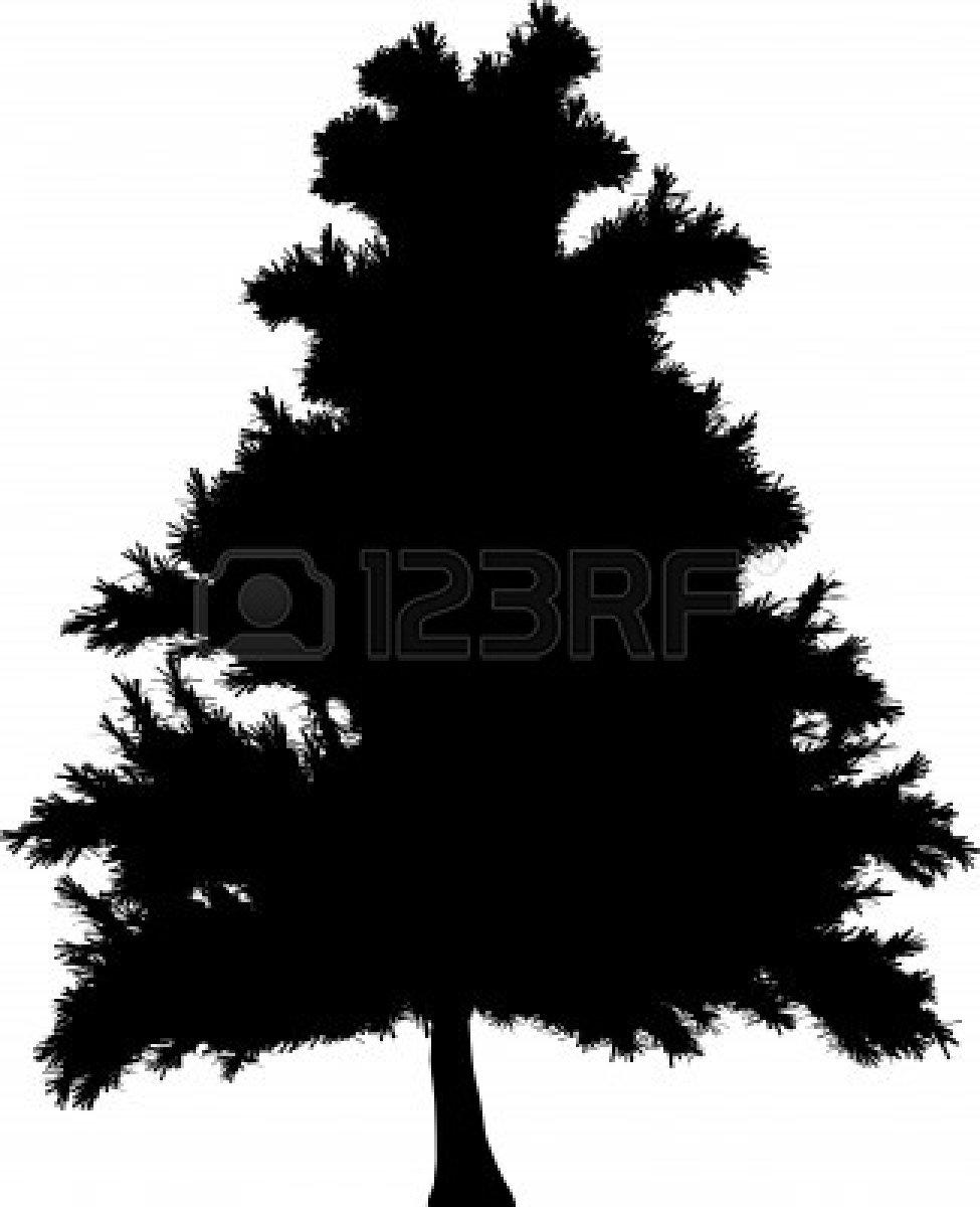 Pine Tree Stencil Simple pine tree stencil