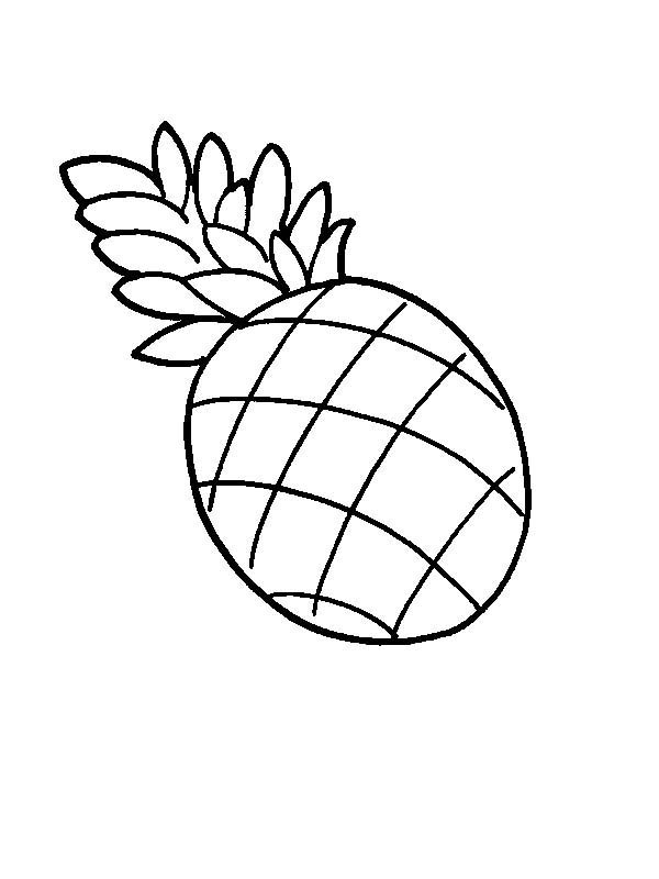 Pineapple Coloring Page | Clipart Panda - Free Clipart Images