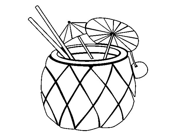 Pineapple Coloring Page Clipart
