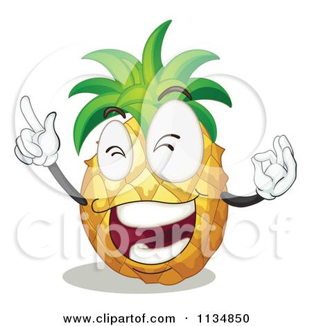 pineapple-logo-vector-1134850-Cartoon-Of-A-Pineapple-Pointing-Up    Pineapple Logo Vector
