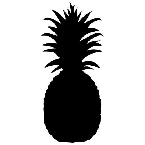 Pineapple Silhouette on Simple Pine Tree Clip Art