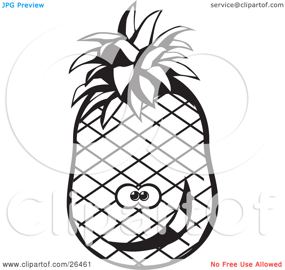 Pineapple Slice Clipart | Clipart Panda - Free Clipart Images for Clipart Pineapple Black And White  181plt