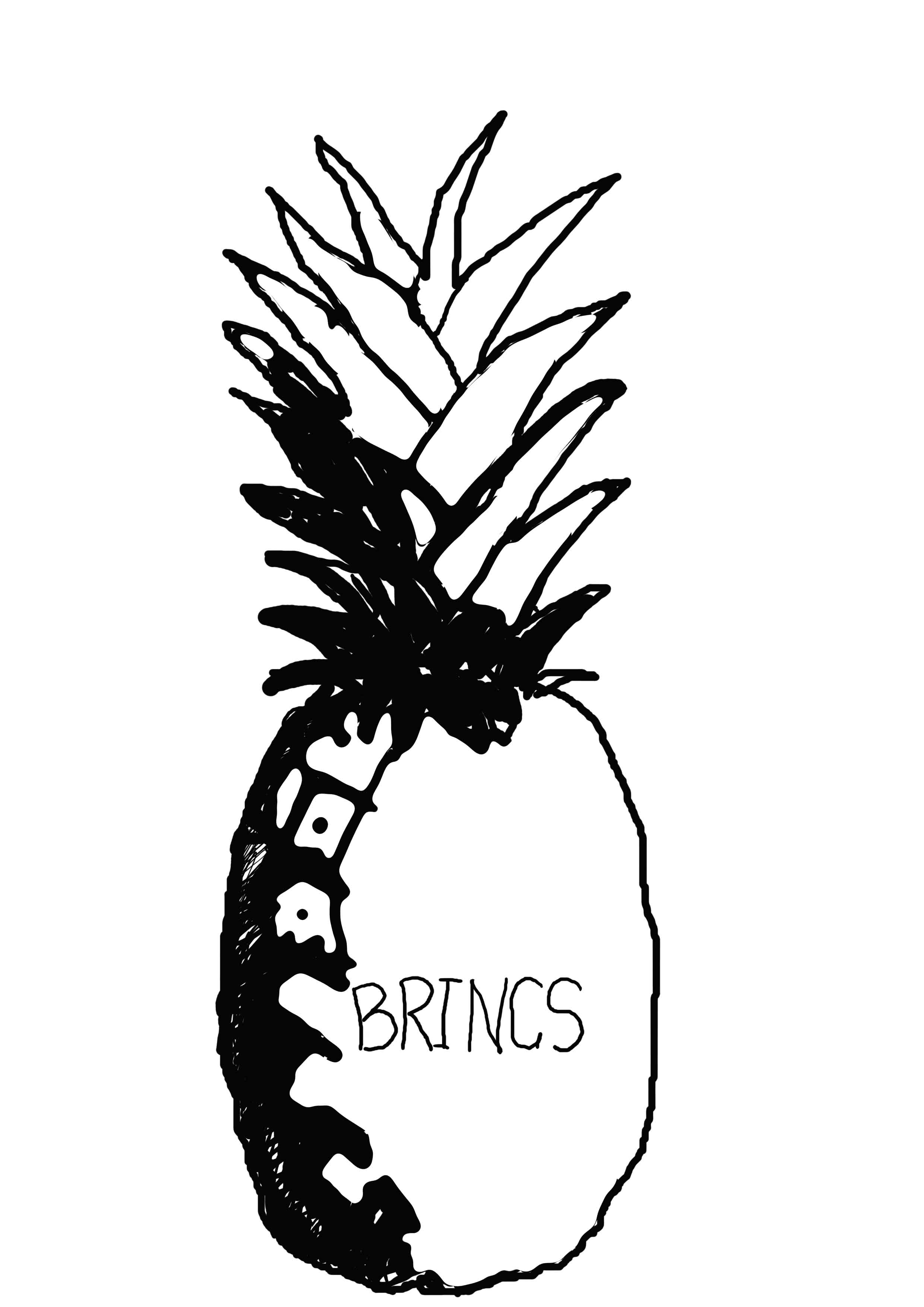 It's just a picture of Declarative Pineapple Stencil Printable