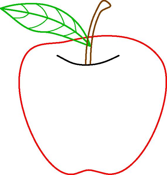 colored apple outline clip art clipart panda free clipart images rh clipartpanda com Apple Outline Printable Outline of Apple Shape