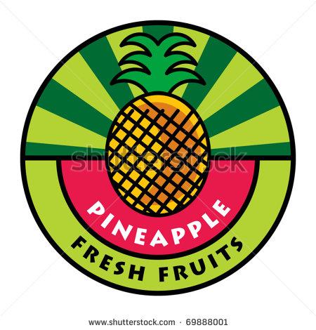 pineapple-vector-stock-vector-fruit-label-pineapple-vector    Pineapple Logo Vector