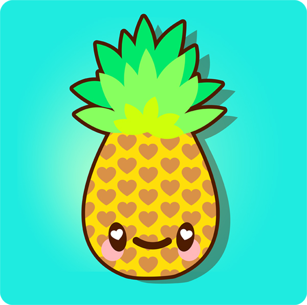 Pineapple wallpaper patterns clipart panda free for Cute easy patterns to draw