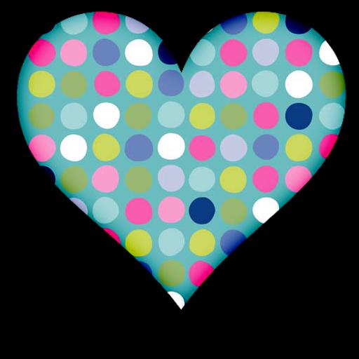 Polka dot heart clipart