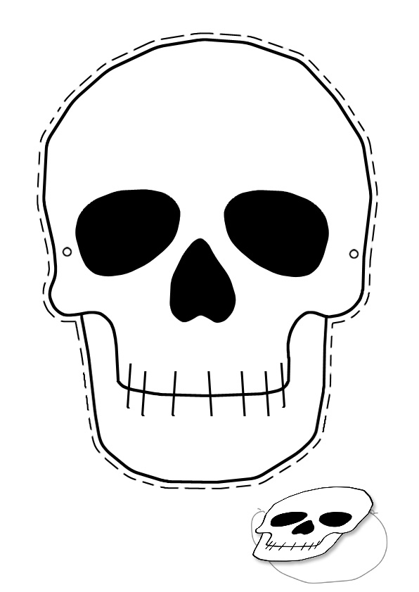 skeleton template to cut out - halloween skeleton head clipart clipart panda free