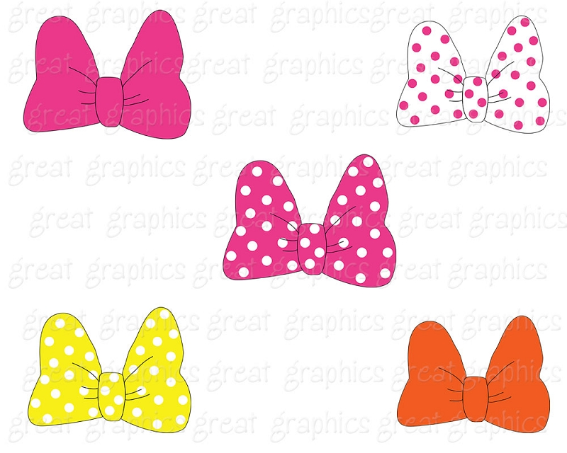 minnie mouse pink bow clipart imagui
