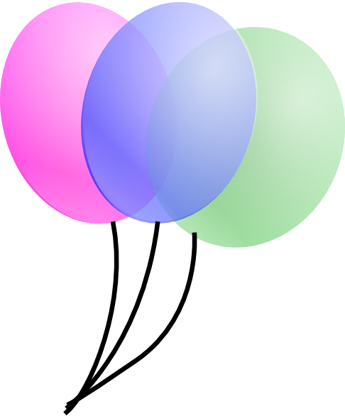 Pink And Purple Balloons Clip Art Pink birthday balloons ...