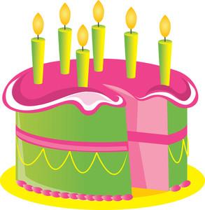 Birthday cake green. Clip art clipart panda