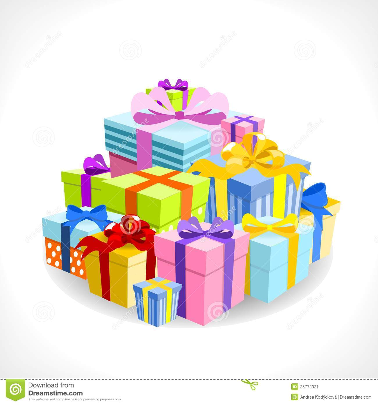 Pile Of Birthday Presents Clipart