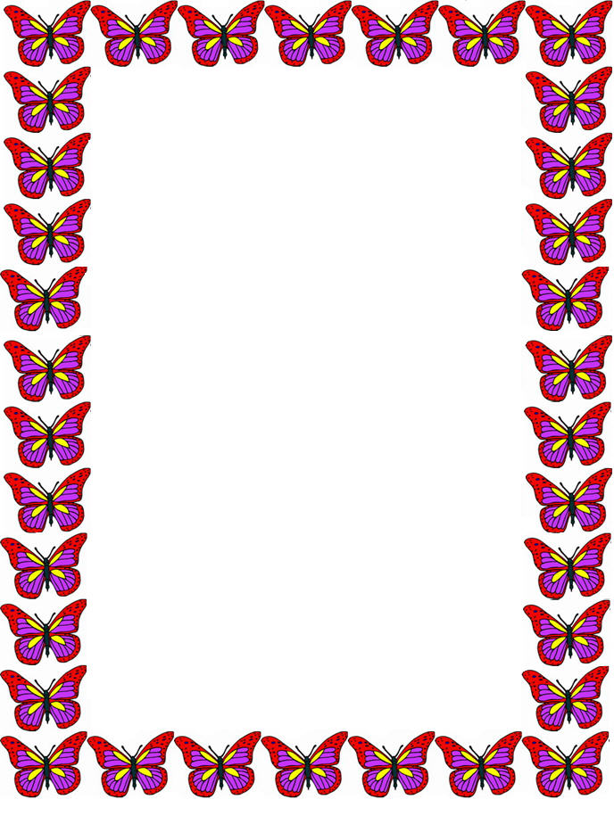 Pink butterfly borders - photo#8