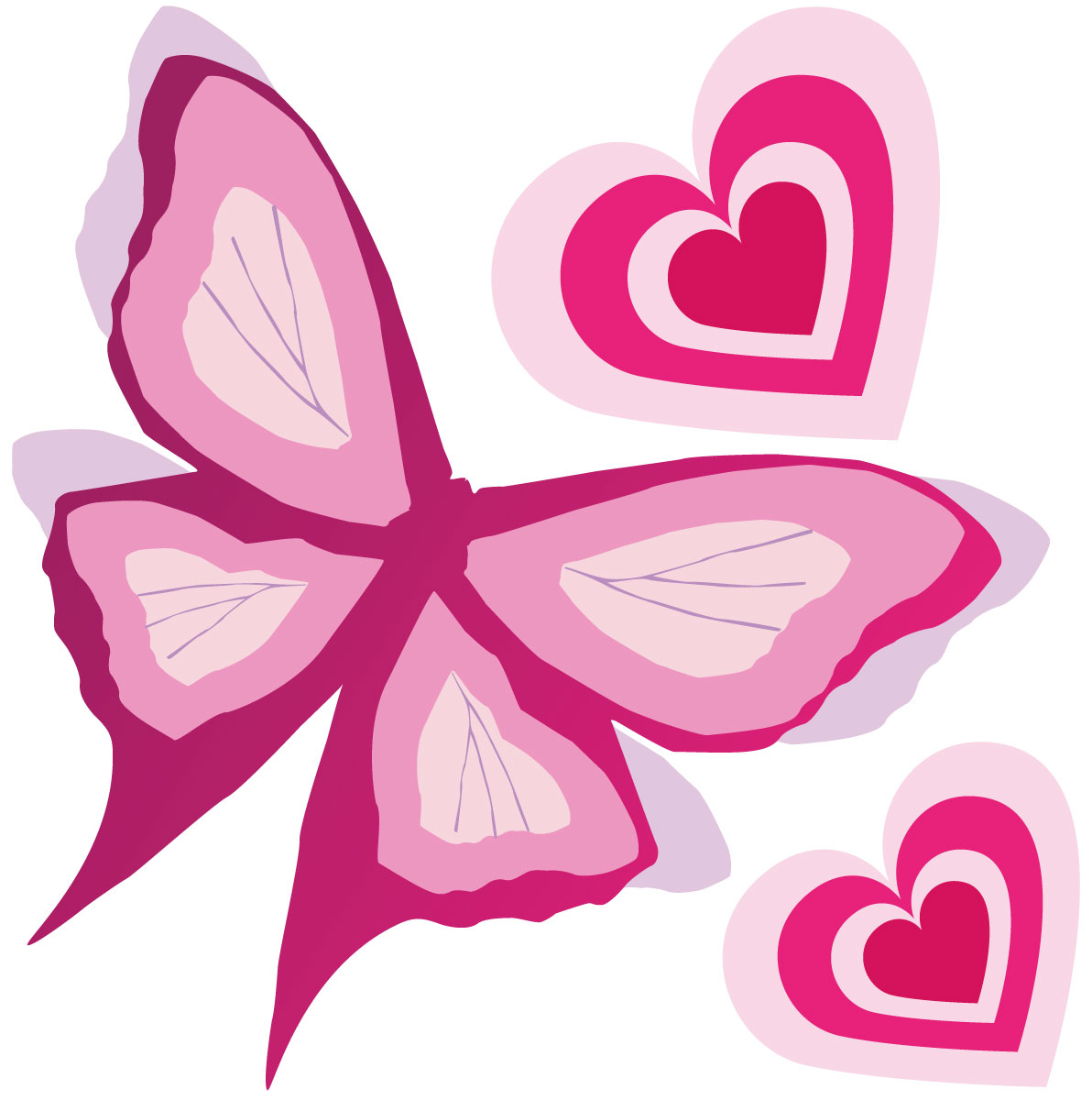 pink butterfly border create butterfly wall decals pink 2.jpg Animated Pink Butterflies