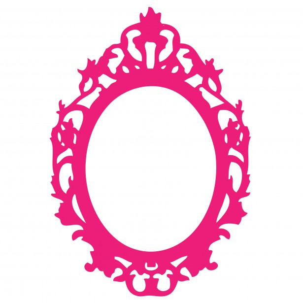 Pink Baroque Frame Clipart