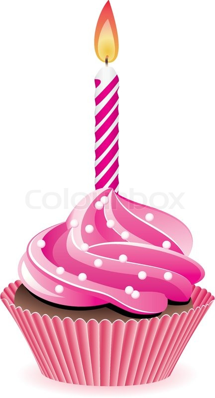 Cup Cakes Candle Clip Art Free