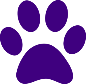 Purple Paw Print clip artPink Dog Bone Clipart