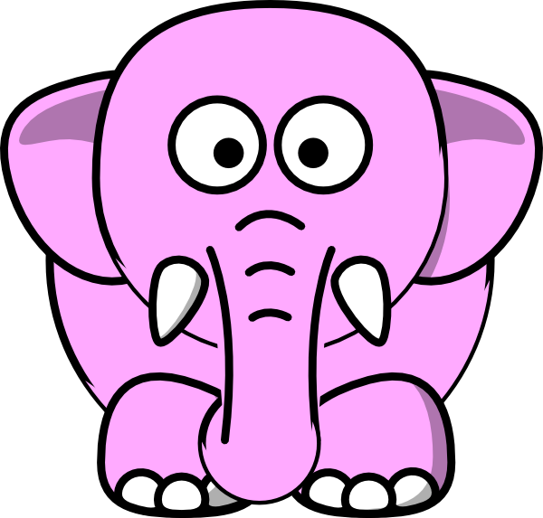 Elephant pink. Clip art clipart panda
