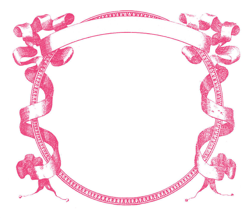 Pink flower border clip clipart panda free clipart images clipart info mightylinksfo