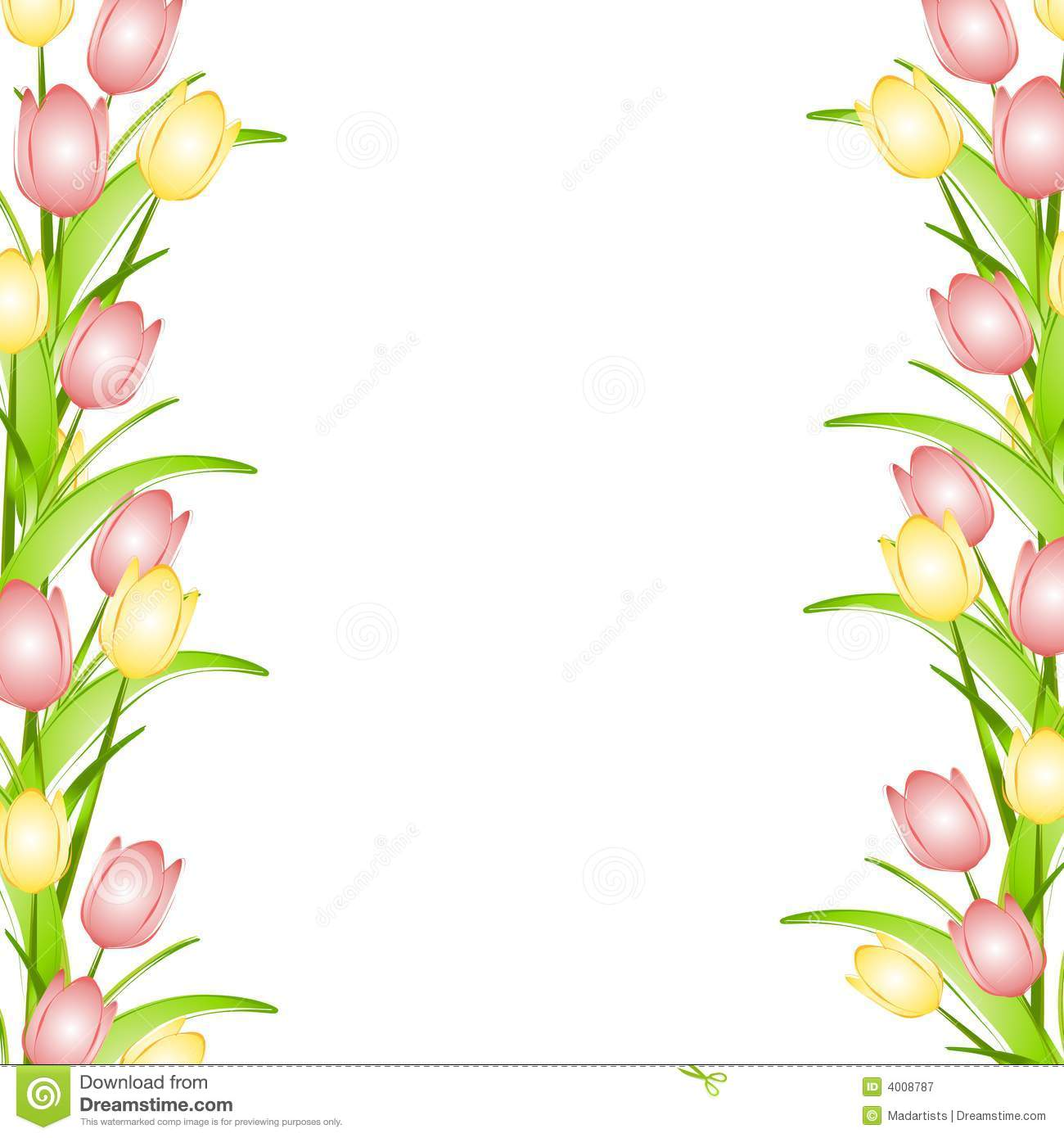 pink-flower-border-clip-art-pink-yellow-spring-tulips-flower-border    Spring Page Border Clipart