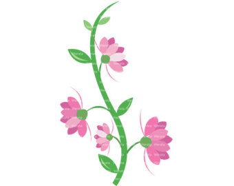 Pink flower border clip art clipart panda free clipart images lilac flower clipart mightylinksfo