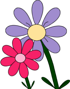 Pink Flower With Stem Clipart | Clipart Panda - Free ...