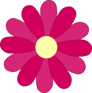 Clipart Pink Flower | Clipart Panda - Free Clipart Images