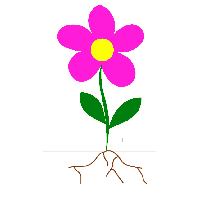 Flower Plant With Roots | Clipart Panda - Free Clipart Images
