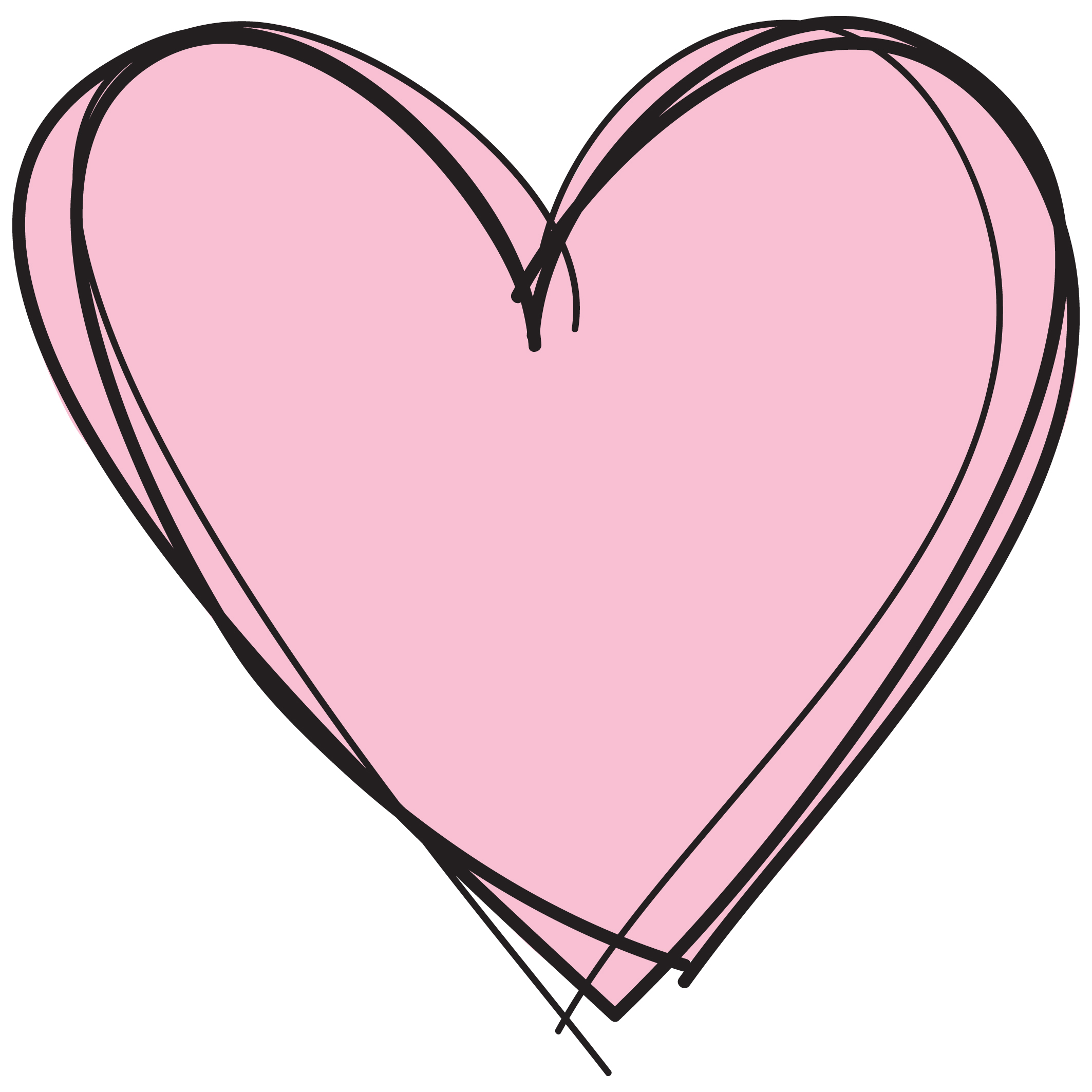 Clipart Panda - Free Clipart Images |Pink Heart Outline Clipart