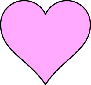 Gray Heart With Pink Outline Clip Art at Clker.com ... |Pink Heart Outline Clipart