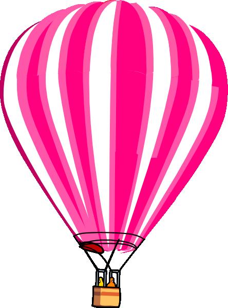 pink hot air balloon clipart