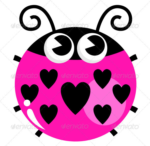 pink lady bug tattoo clipart panda free clipart images