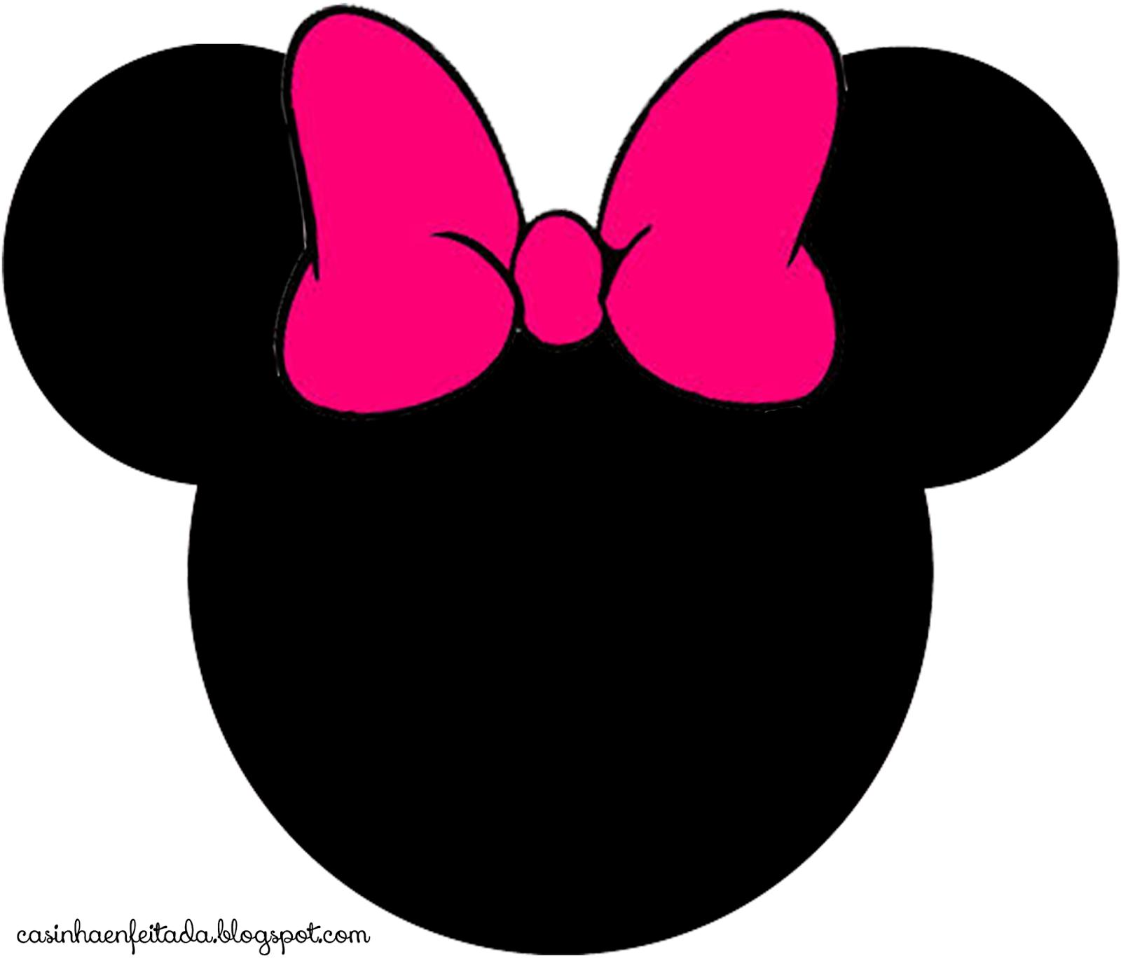 Minnie Mouse Pink Silhouette Head Joy Studio Design