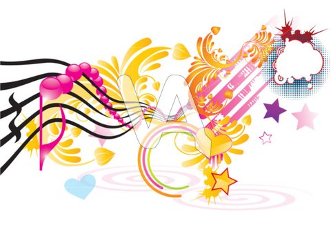 Funky Music Background With | Clipart Panda - Free Clipart ...