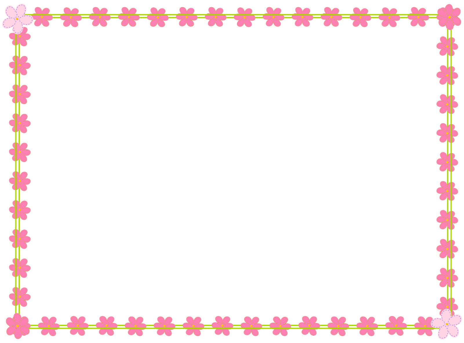 Pink Flower Border Clip Art Clipart Panda Free Clipart Images