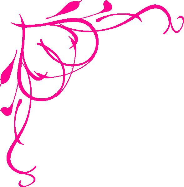 Decorative Pink Border Clip Art pink 20scroll 20border 20clip