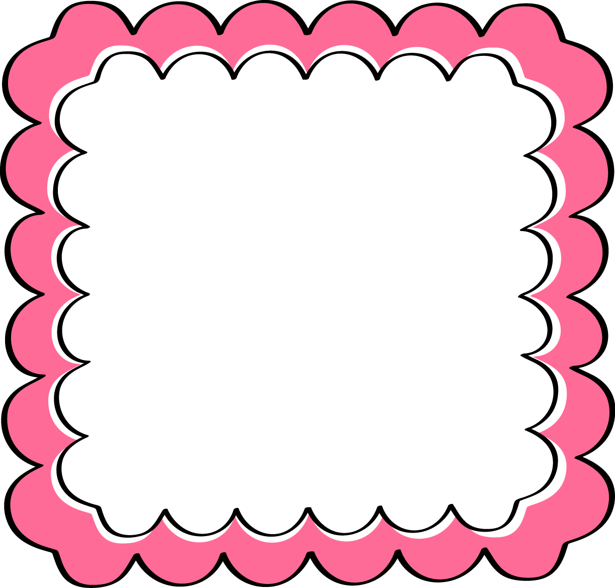 Pink Scroll Frame Clip Art | Clipart Panda - Free Clipart ...