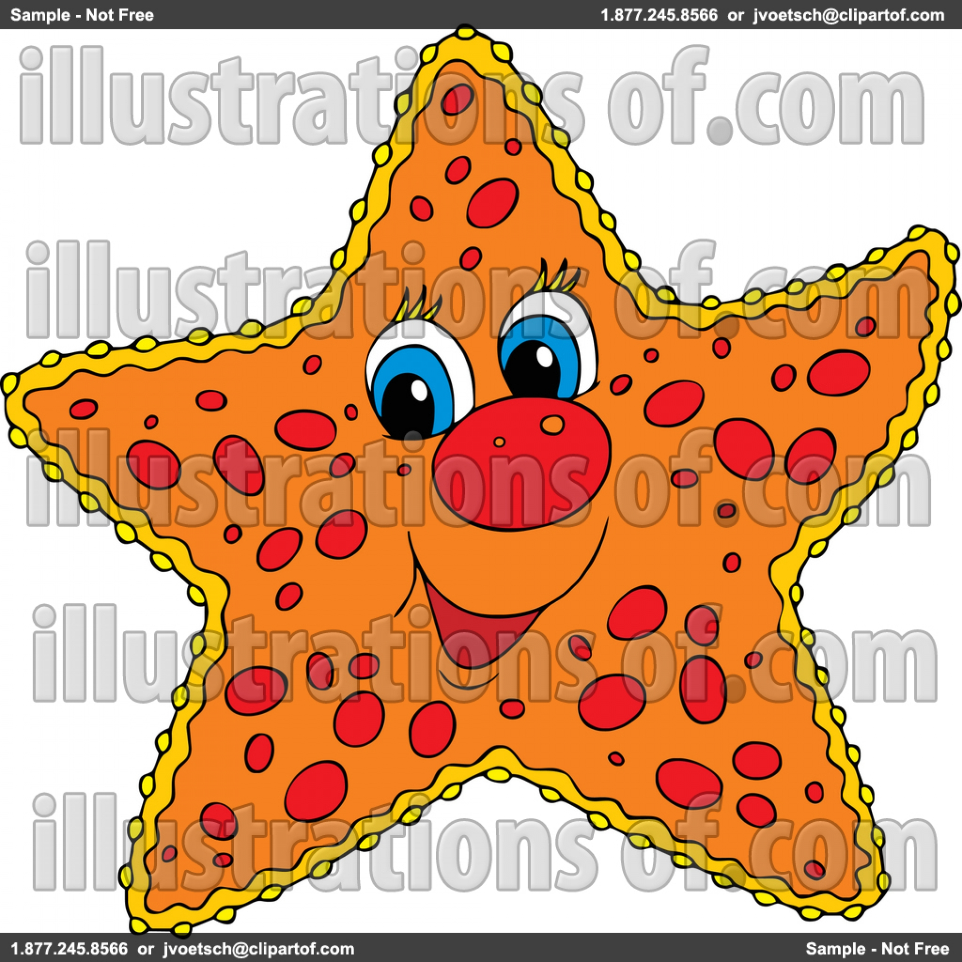 Pink Starfish Clip Art  Royalty Free Rf Starfish Clipart Illustration  By Alex Bannykhx