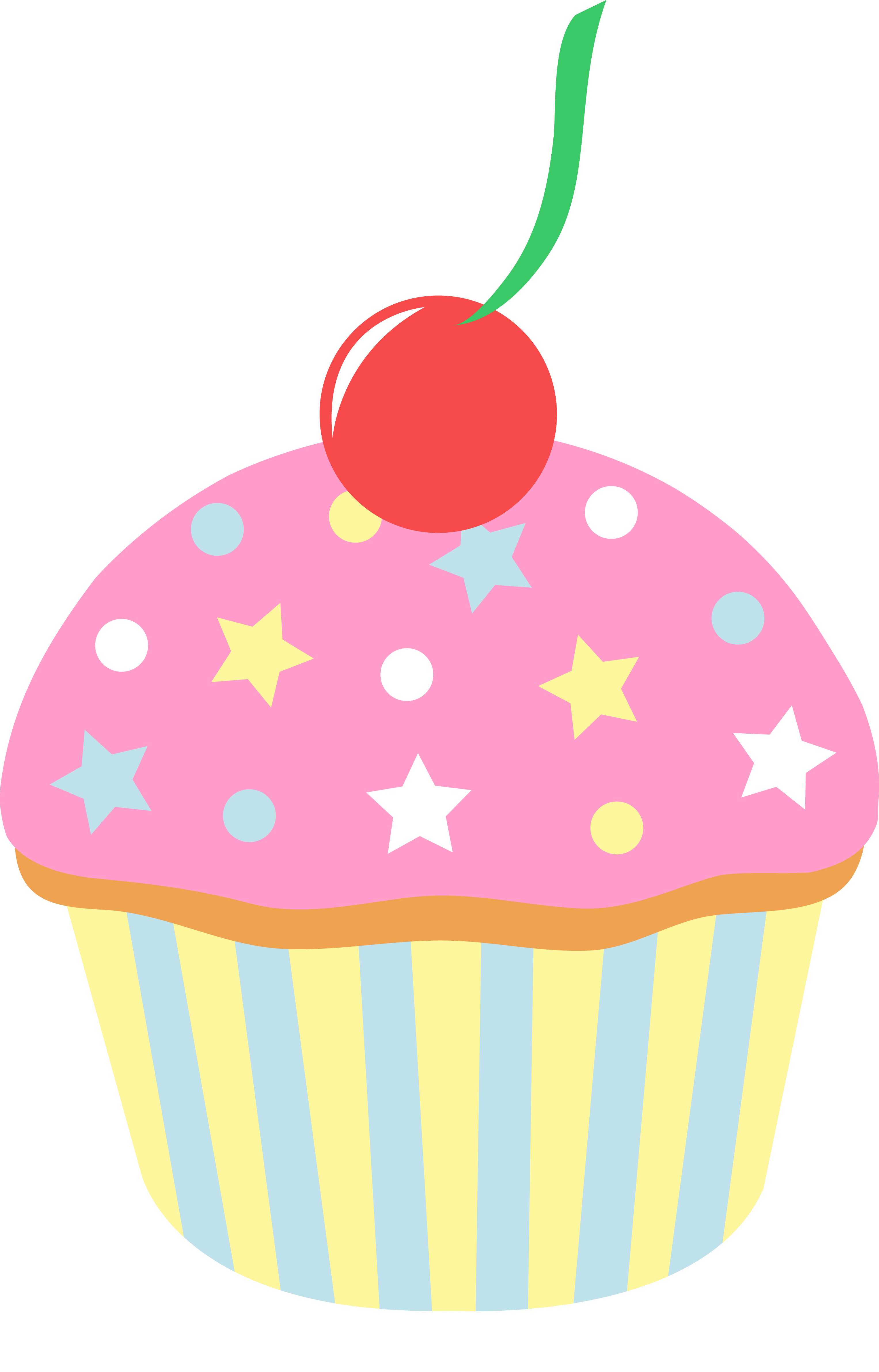 Pink Cupcakes With Sprinkles | Clipart Panda - Free Clipart Images