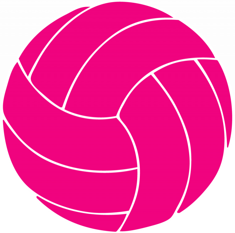 Pink Volleyball Clipart