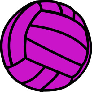 Volleyball purple. Clip art clipart panda