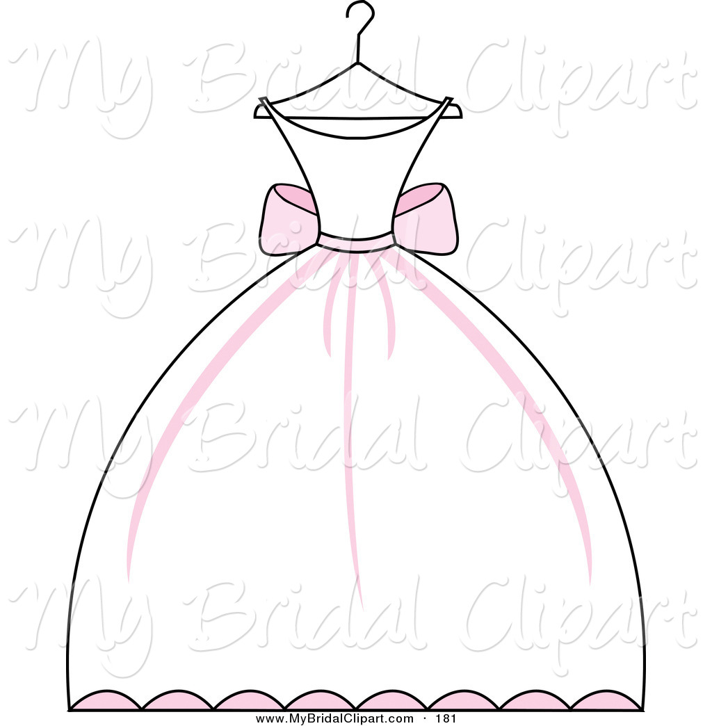 Wedding Gown Clip Art: Wedding Dress Silhouette Clip