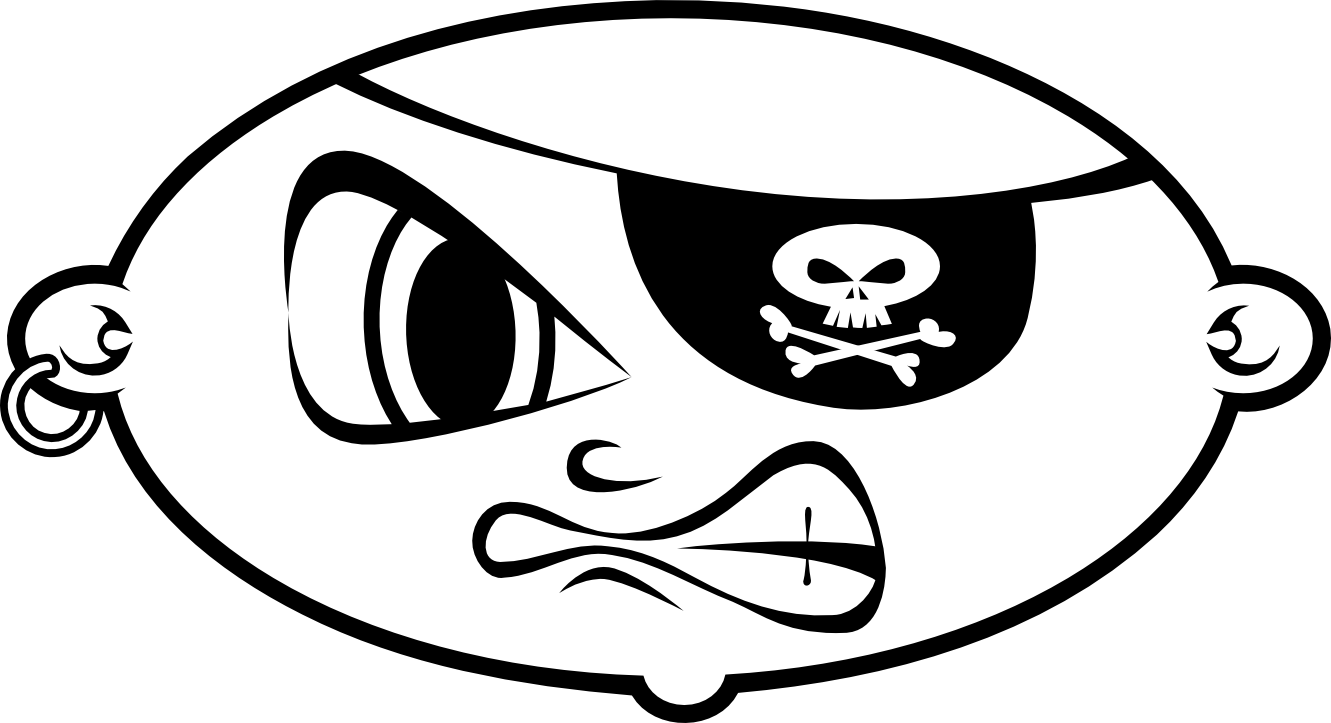 Pirate Clipart Black And White | Clipart Panda - Free ...
