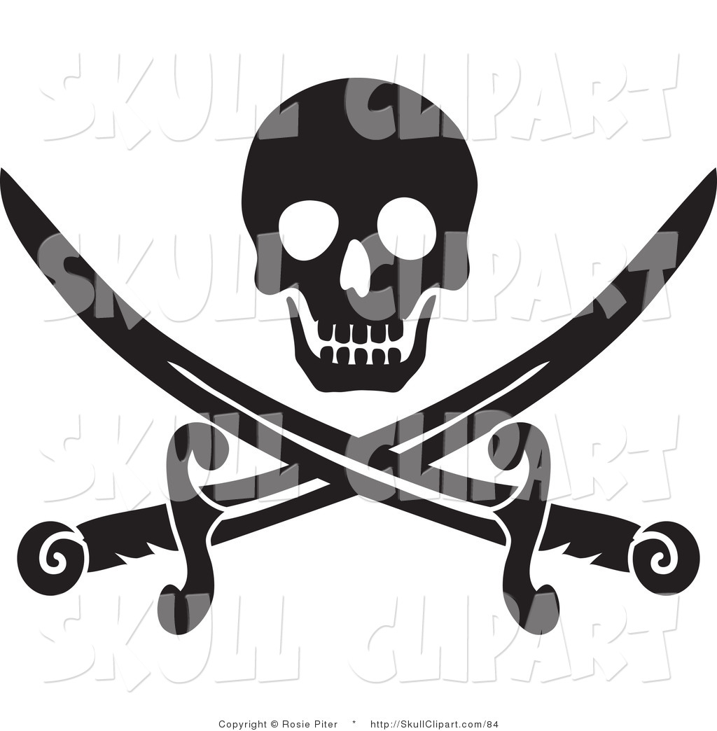 vector clip art of a black