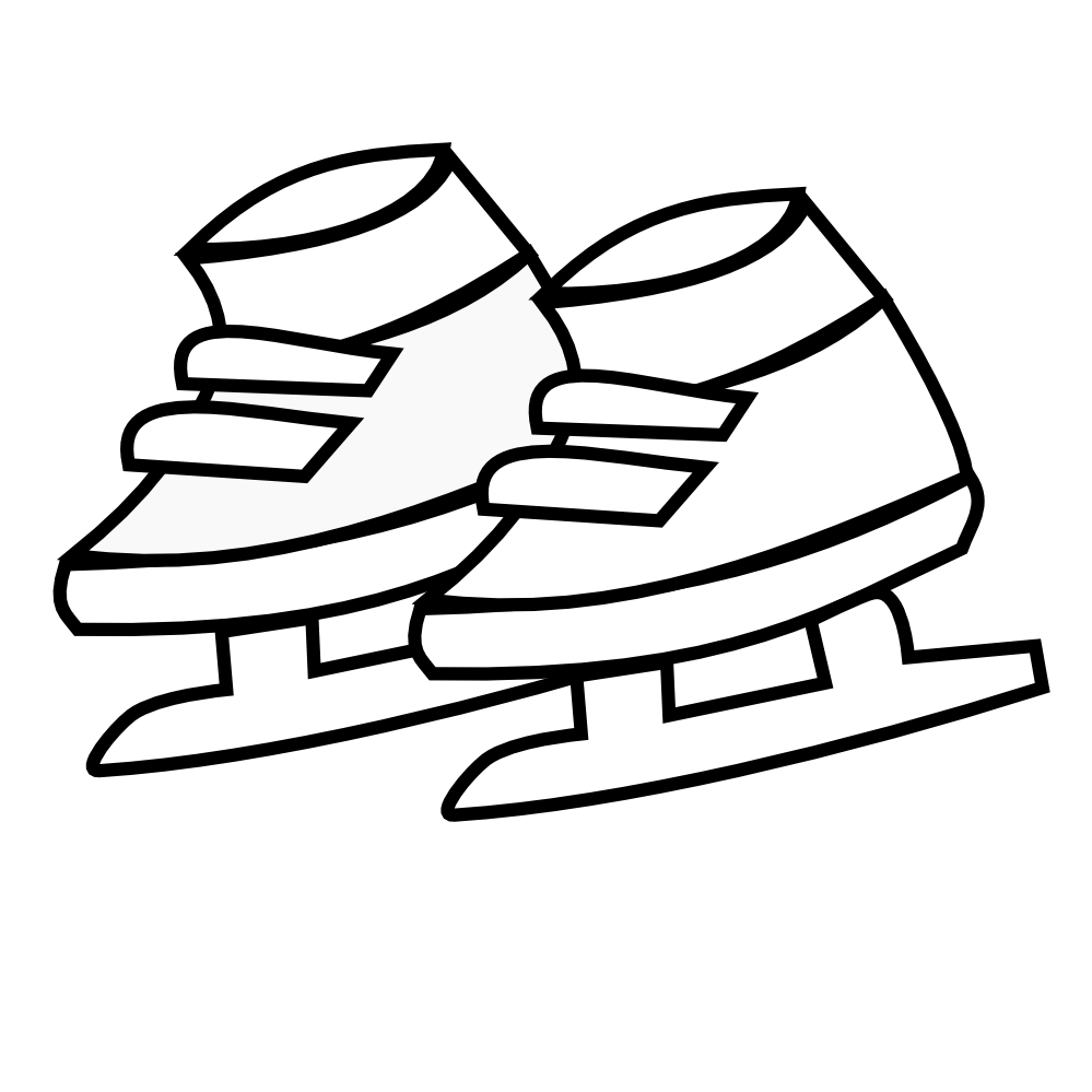 Baby shoes clipart black and white
