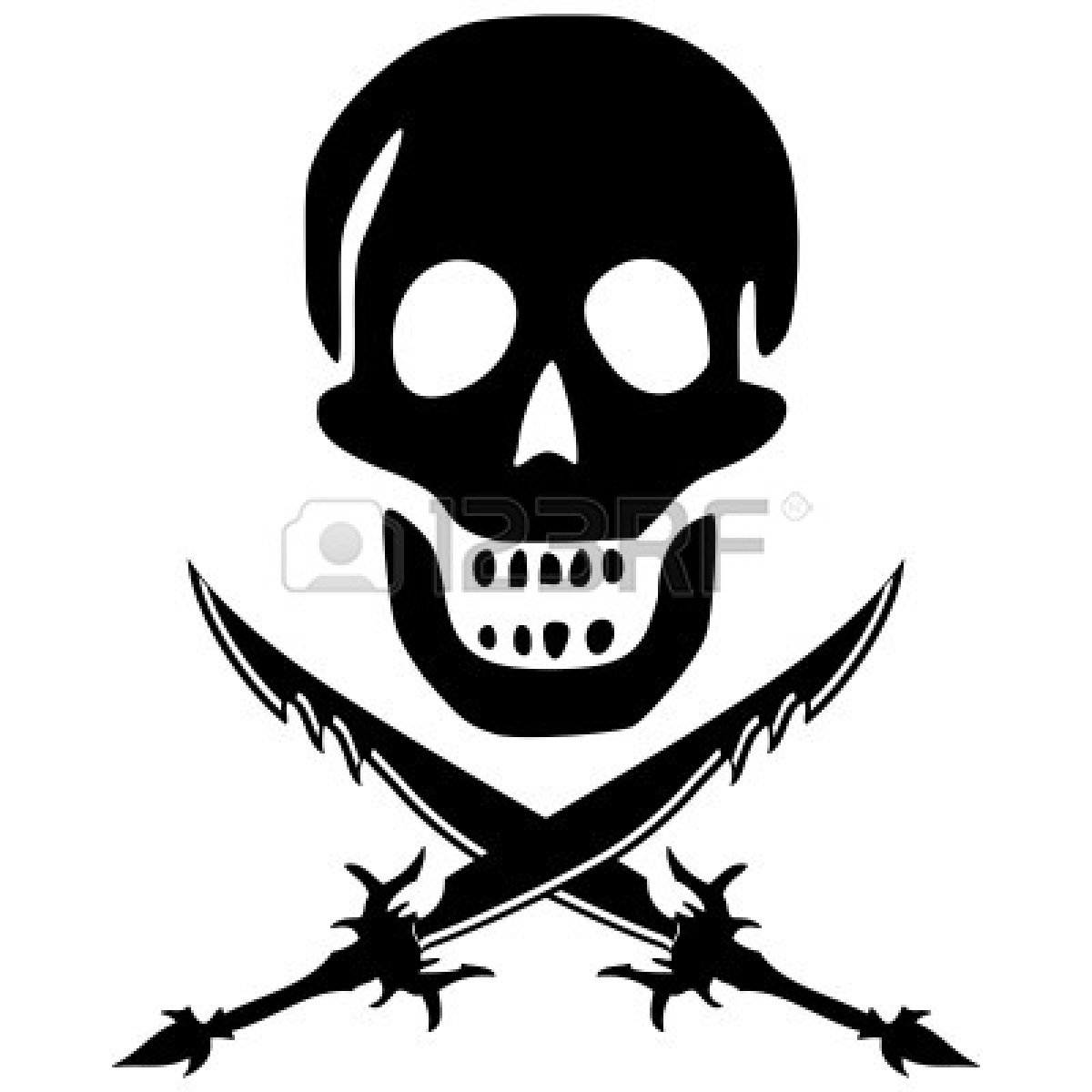 Pirate hat clipart black and white - photo#9