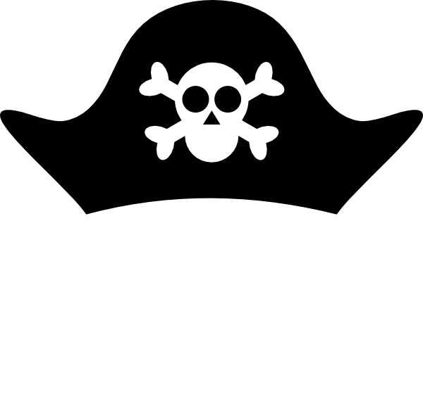 Pirate hat clipart black and white - photo#1